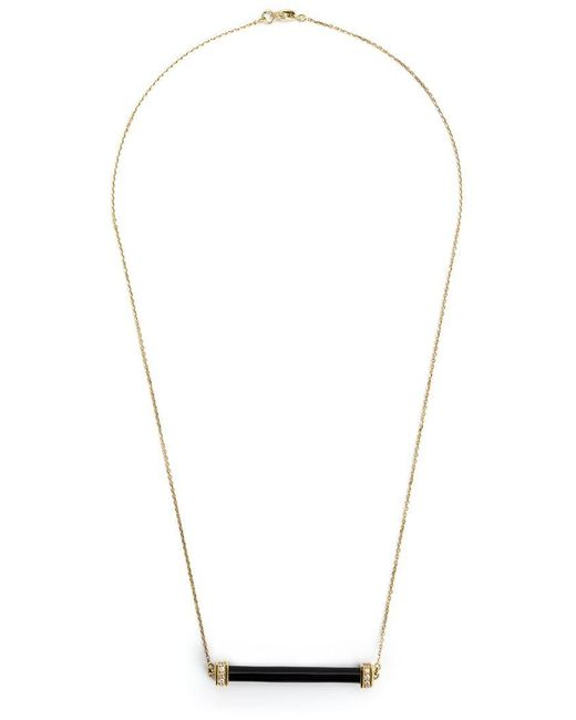 Kristin Hanson - Black Onyx And Diamond Bar Necklace - Lyst