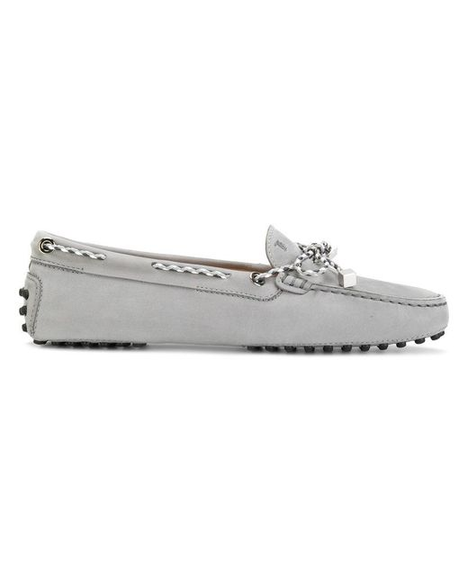 Tod's | Gray Heaven Laccetto Loafers | Lyst
