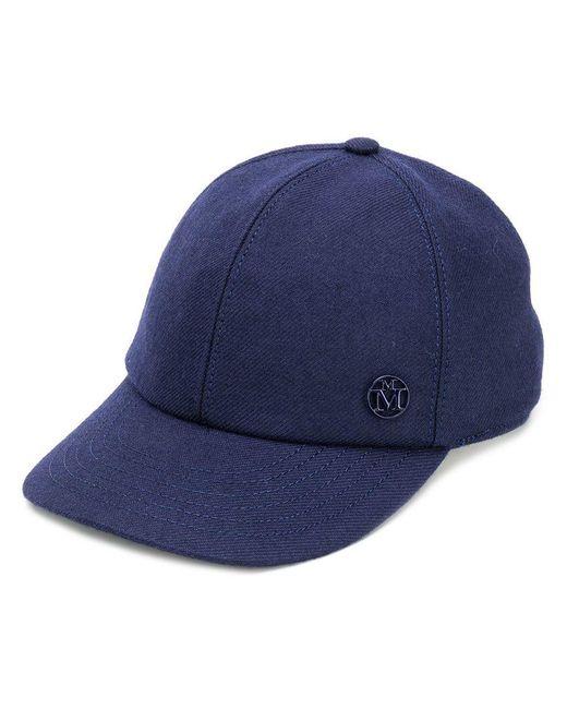 319ceec973d Maison Michel Logo Plaque Cap in Blue for Men - Lyst
