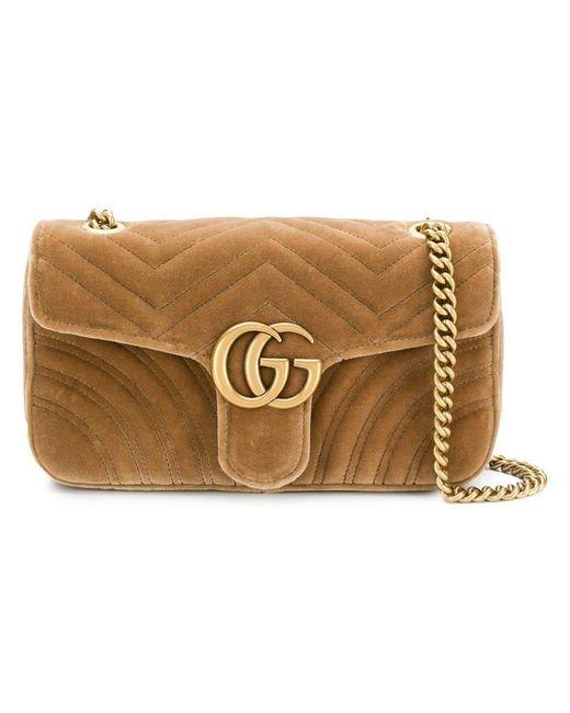 Gucci - Multicolor Gg Marmont Chain Shoulder Bag - Lyst