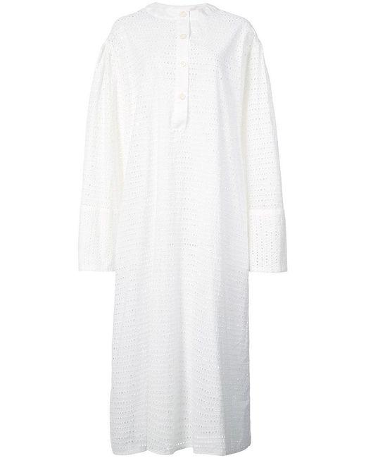 Natasha Zinko - White Perforated Midi Dress - Lyst
