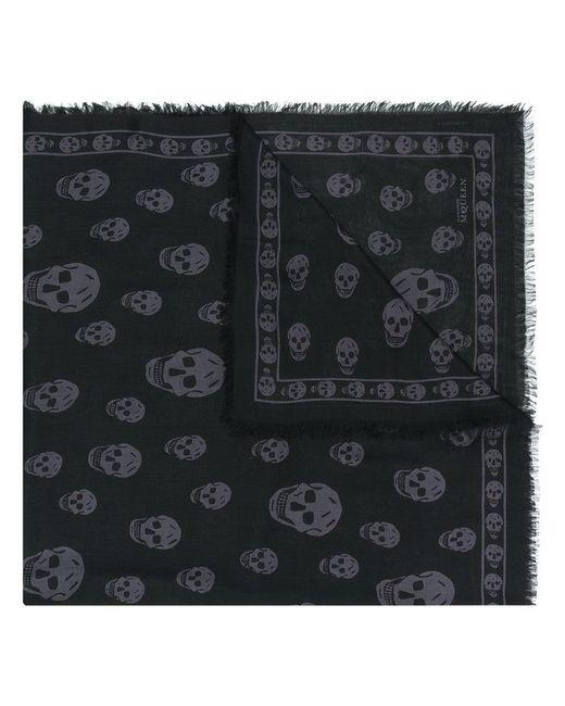 Alexander McQueen - Black Skull Print Scarf for Men - Lyst
