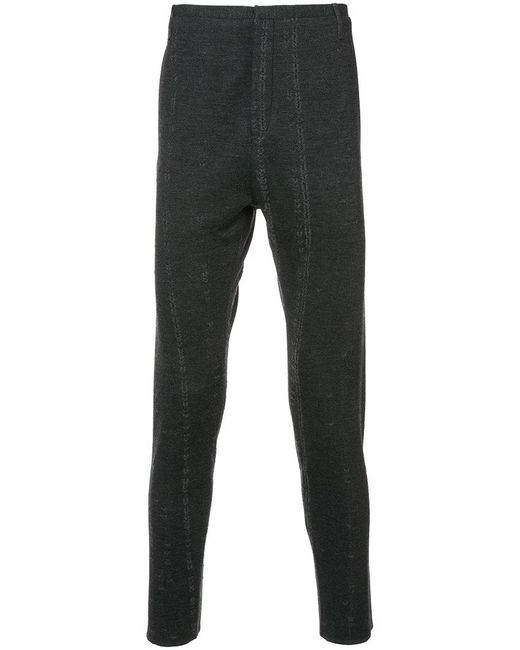 Label Under Construction - Gray Distressed Skinny Trousers for Men - Lyst