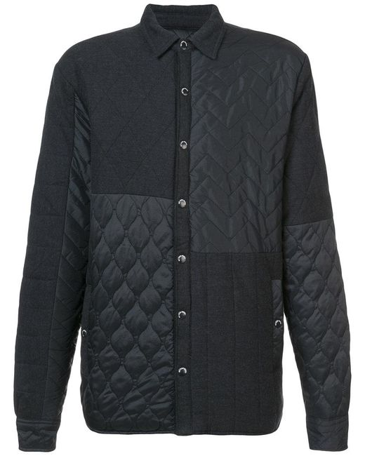 Mostly Heard Rarely Seen - Black Quilted Shirt Jacket for Men - Lyst