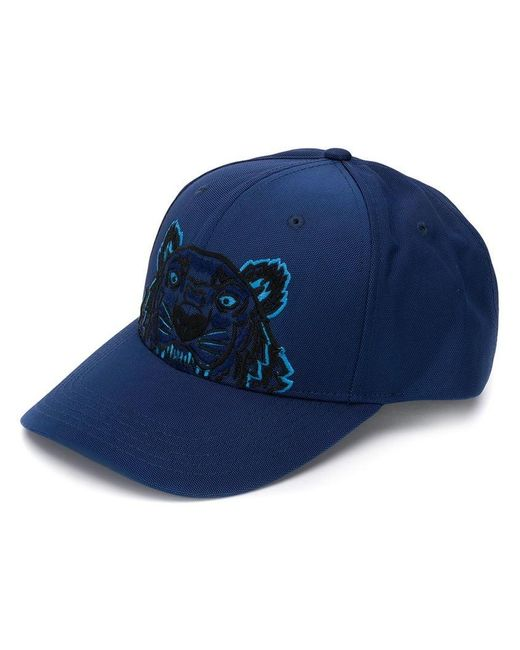 KENZO - Blue Tiger Embroidered Baseball Cap for Men - Lyst