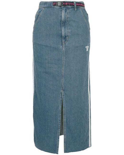Hysteric Glamour - Blue Adios Front Slit Denim Skirt - Lyst