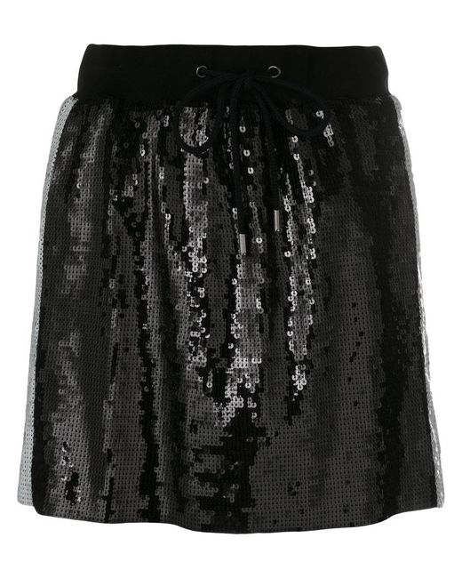 79ceb8f82913 Alberta Ferretti Side Stripe Sequin Mini Skirt in Black - Save 57 ...