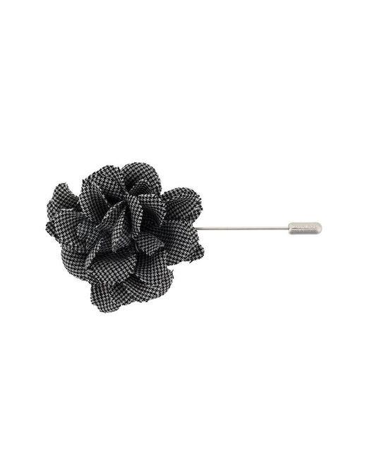 Lanvin - Black Patterned Flower Brooch - Lyst