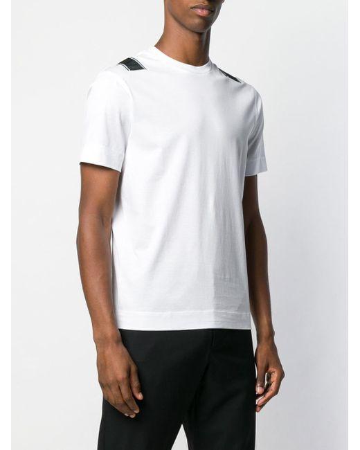 14b3aa59 ... Emporio Armani - White Logo Band T-shirt for Men - Lyst ...