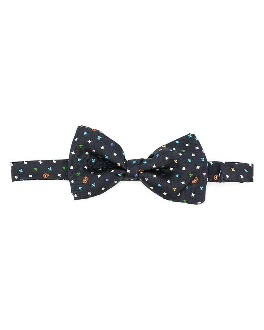 Etro | Blue Embroidered Bow Tie for Men | Lyst