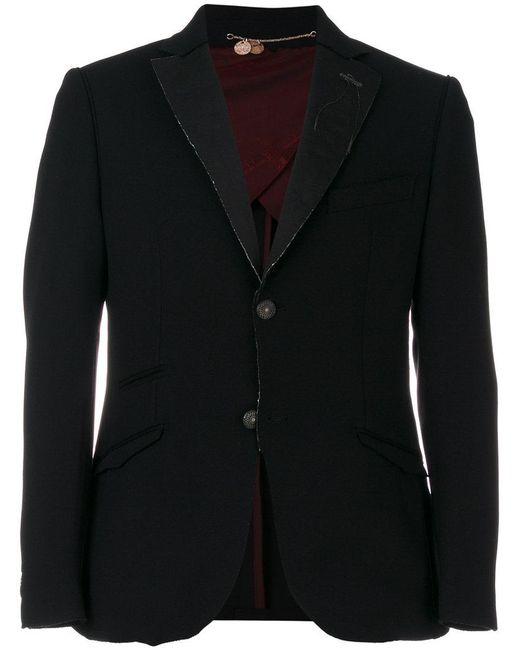 Maurizio Miri - Black Raw Edge Blazer for Men - Lyst