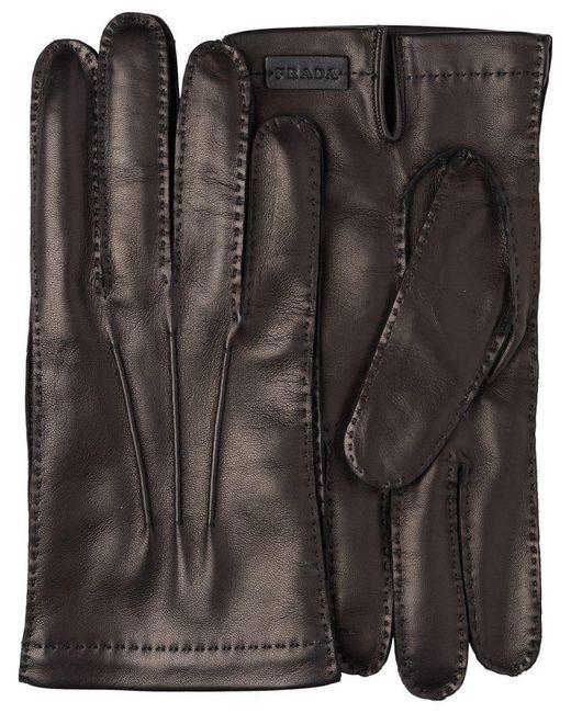 133e5e28a58de Lyst - Prada Klassische Handschuhe in Schwarz für Herren