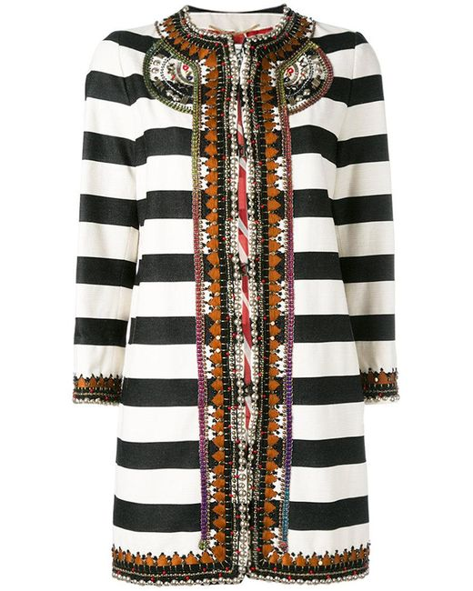 Bazar Deluxe - Black Striped Coat - Lyst