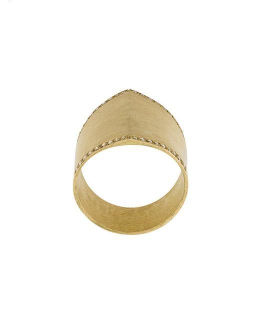 Ileana Makri - Metallic Armor Ring - Lyst