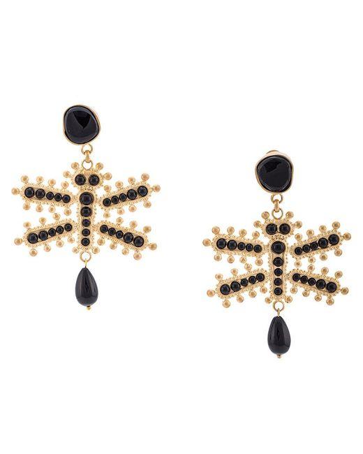 Etro - Black Dragonfly Earrings - Lyst