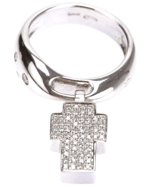 Gavello - Metallic Cross Ring - Lyst