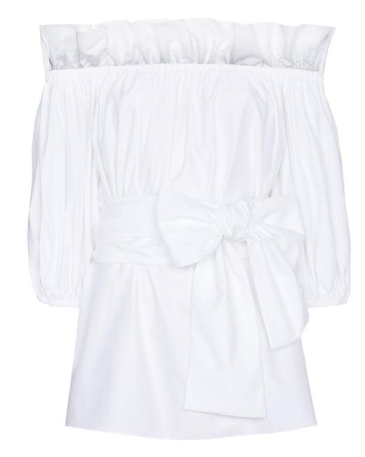 Stella McCartney - White Michelle Taffeta Top - Lyst