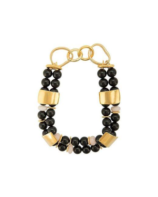 155052f466ef Collar de cuentas Reflection Lizzie Fortunato de color Negro - Lyst