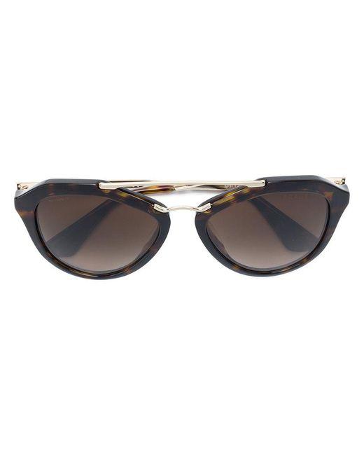 4bf4803e0363 ... italy prada black tortoiseshell cat eye sunglasses lyst 59e19 54d7b