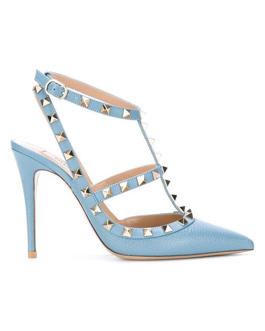 Valentino - Blue Garavani Rockstud Pumps - Lyst