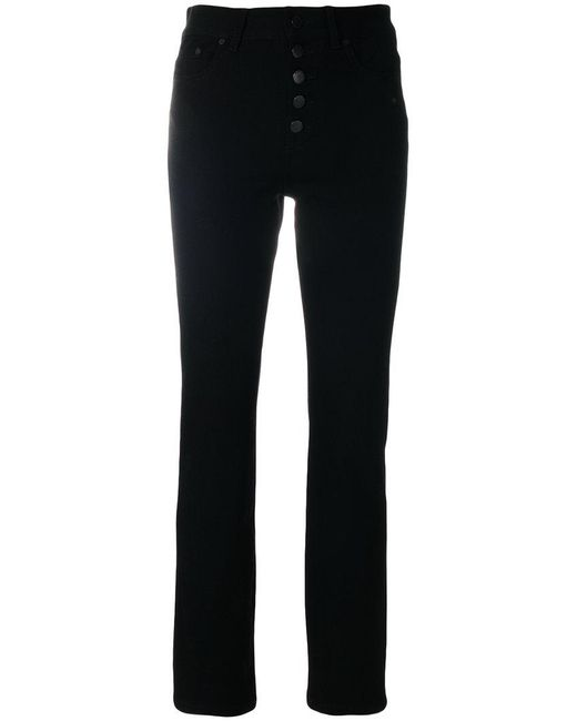Joseph - Black Buttoned Tapered Jeans - Lyst