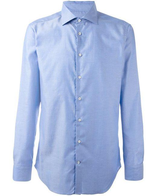 Etro | Blue Classic Button Down Shirt for Men | Lyst