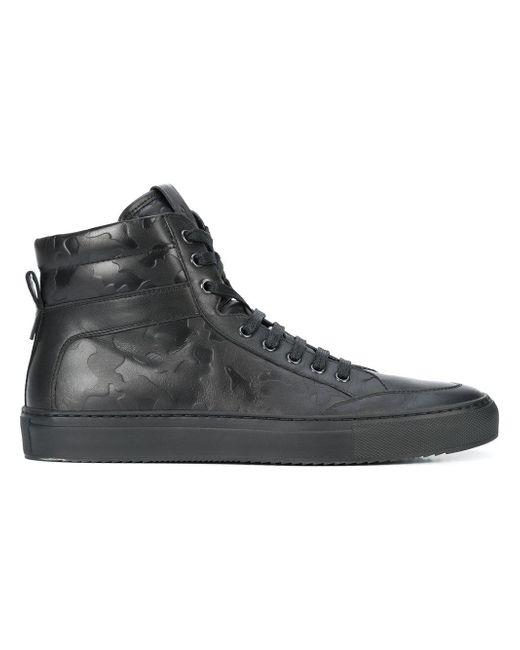 Koio Black Primo Nero Camo Sneakers for men