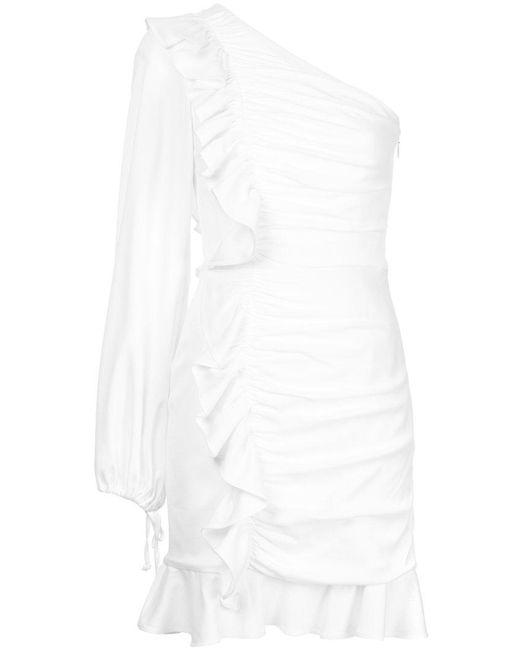 Rebecca Vallance - White Argentine One Shoulder Mini Dress - Lyst