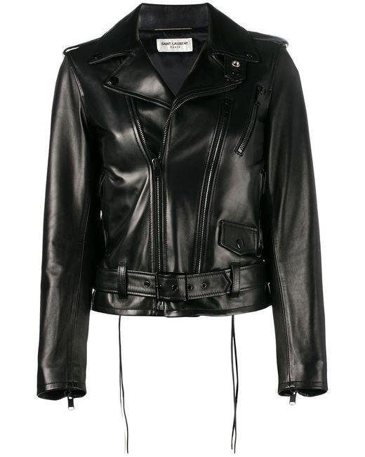 Saint Laurent - Black L17 Motorcycle Jacket - Lyst