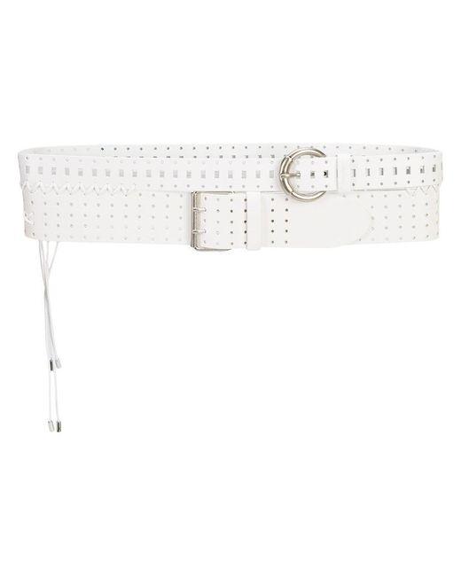 perforated double belt - White Maison Martin Margiela 8WLXX