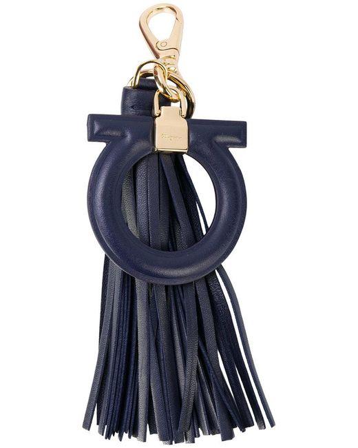 Ferragamo - Blue Gancio Tassel Bag Charm - Lyst