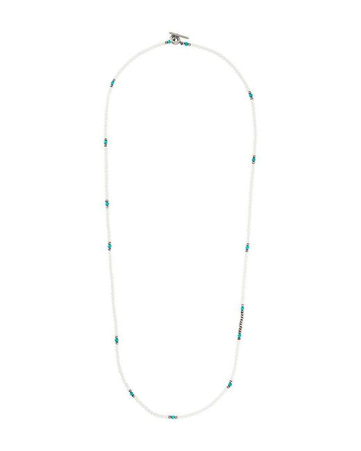 M. Cohen - White Beaded Necklace for Men - Lyst