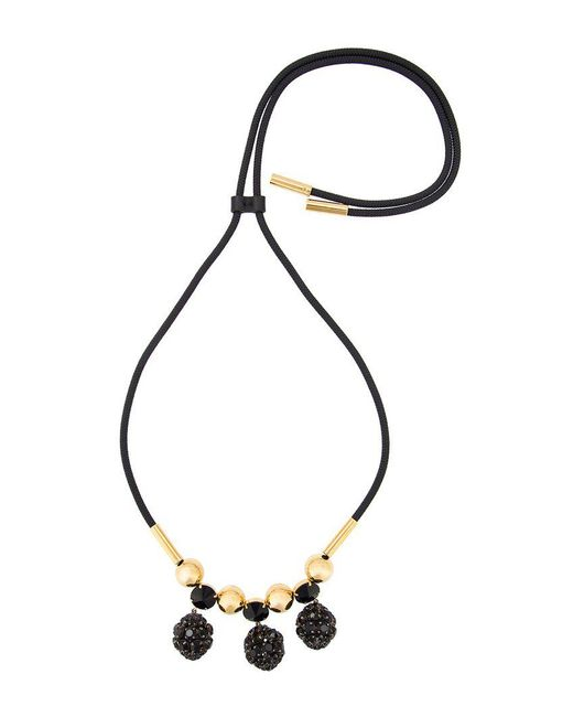 Marni - Black Strass Pendant Necklace - Lyst