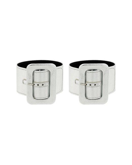 Attico - Metallic Buckle Cuff Bracelet - Lyst