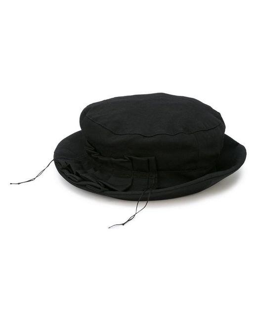 Y's Yohji Yamamoto - Black Distressed Detail Hat - Lyst