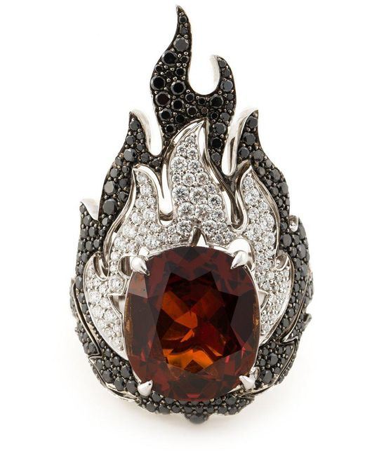 Garrard - White 'fire Of London' Ring - Lyst