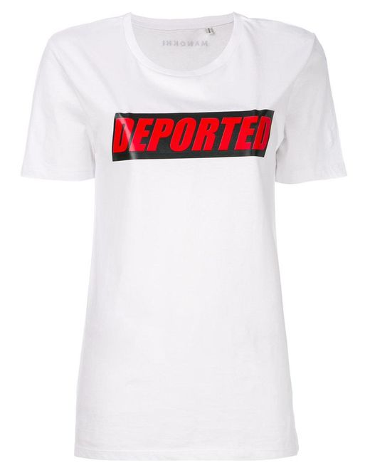Manokhi - White Departed T-shirt - Lyst