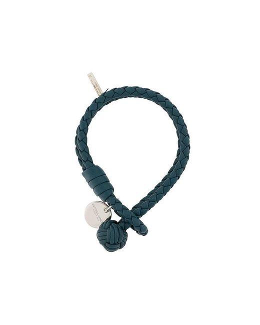 Bottega Veneta - Blue Double Intrecciato Bracelet - Lyst