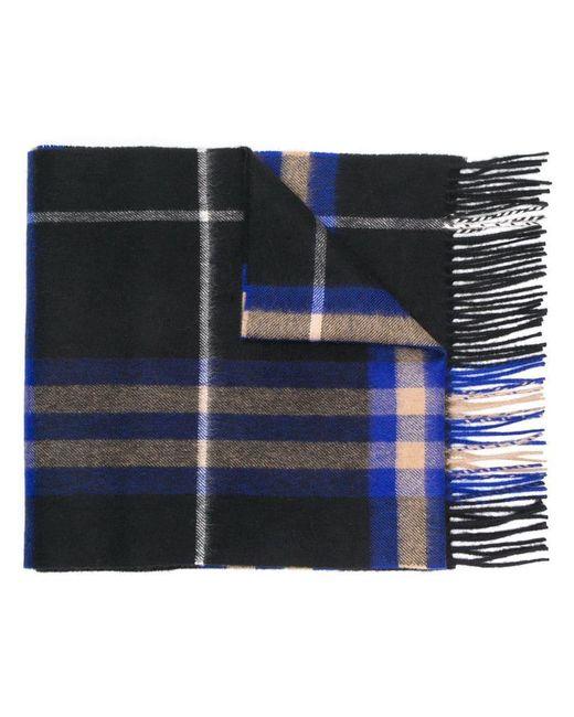 Burberry - Blue Écharpe à carreaux for Men - Lyst