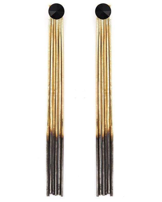 Iosselliani - Metallic 'black Hole Sun' Earrings - Lyst