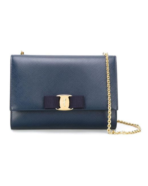 Ferragamo | Blue 'vara' Crossbody Bag | Lyst