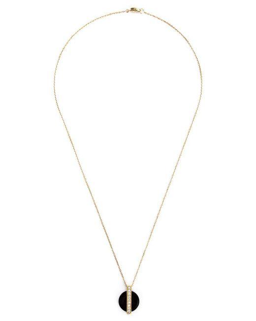 Kristin Hanson - Black Diamond Baguette Disc Pendant Necklace - Lyst