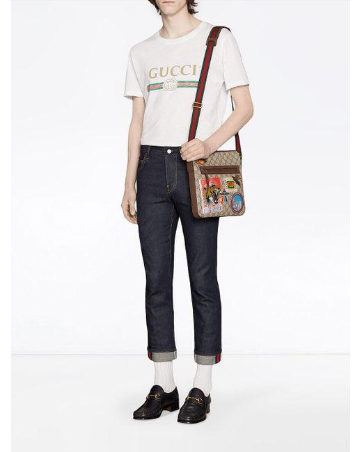 0056724bbc3 ... Gucci - Multicolor Sac à bandoulière en toile suprême GG souple avec  motifs Courrier for Men ...