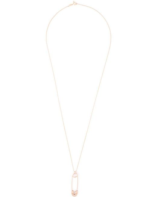 True Rocks - Pink Large Safety Pin Pendant Necklace - Lyst