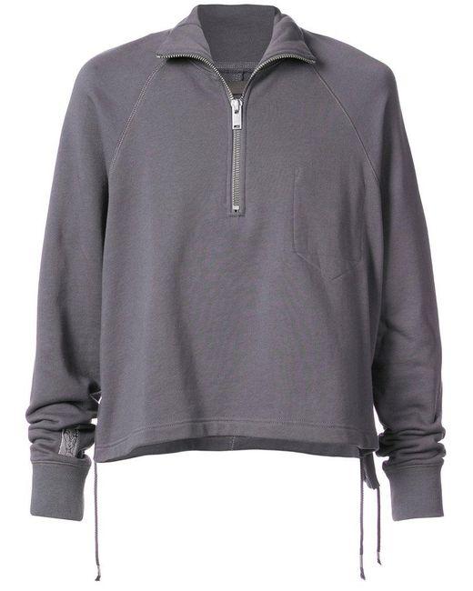 Siki Im - Gray Zipped Turtleneck Sweater for Men - Lyst