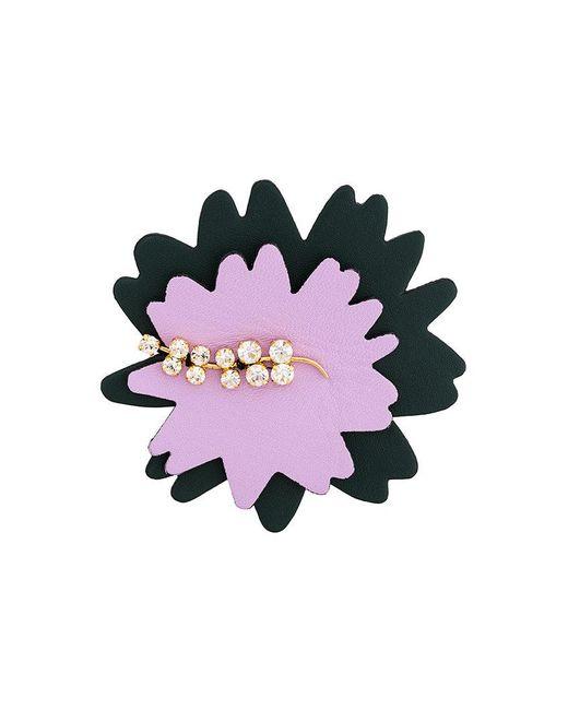Marni - Multicolor Floral Crystal Brooch - Lyst