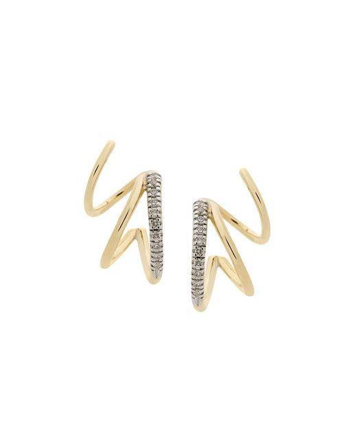 Maria Black - Metallic Fury Diamond Twirl Earrings - Lyst