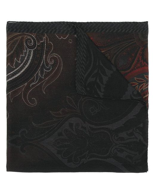 Etro - Black Ombre Print Scarf for Men - Lyst