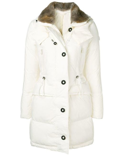 Peuterey - White Hooded Padded Parka - Lyst