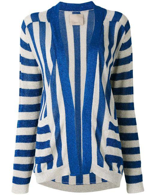 Laneus - Blue Striped Cardigan - Lyst